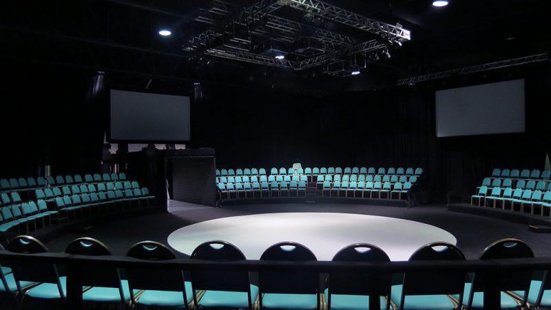 espaço de eventos em formato de arena